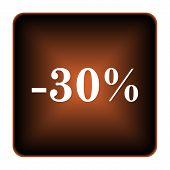 30 Percent Discount Icon