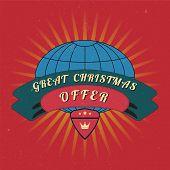 Christmas Sale Design Template.