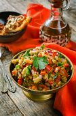 Salad Of Roasted Eggplant And Peppers