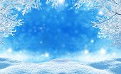 stock photo of cloud forest  - winter  christmas background - JPG