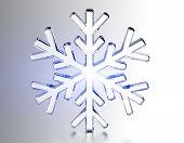 Diamond snowflake. Christmas background