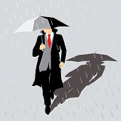 Rain Man With Umbrella