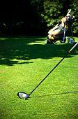 Driver, ball and golf bag