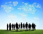 stock photo of globalization  - Global Business World Commercial Business People Concept - JPG