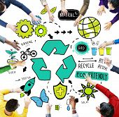 foto of reuse recycle  - Recycle Reuse Reduce Bio Eco Friendly Environment Concept - JPG