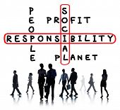 stock photo of responsible  - Social Responsibility Reliability Dependability Ethics Concept - JPG
