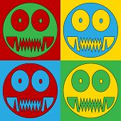 pic of monster symbol  - Pop art monster symbol icons - JPG