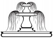 picture of fountains  - Fountain in the style of renaissance isolated on white background - JPG