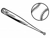 pic of baseball bat  - Baseball and baseball bat - JPG