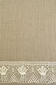 Natural linen uncolored background