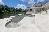 image of swimming  - A Swimming Pool under construction in Florida - JPG