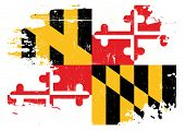 foto of maryland  - Scratched Maryland Flag - JPG