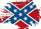 stock photo of flag confederate  - Scratched Confederate Flag - JPG