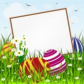 stock photo of grass bird  - Easter card - JPG