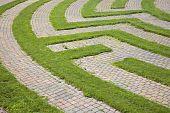 Grass and Cobblestone Maze