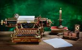 picture of typewriter  - Steampunk style future Typewriter - JPG