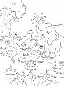Постер, плакат: animals coloring page