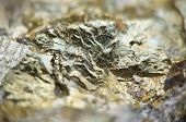 stock photo of iron pyrite  - Macrophoto Pyrite or iron pyrite is an iron sulfide with the chemical formula FeS2