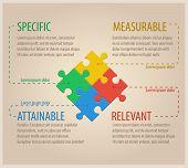 foto of puzzle  - Four Colourful Puzzle Pieces - JPG
