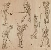 image of competing  - GOLF Golfers Golf and Golf Equipment - JPG