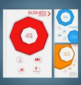picture of octagon  - Design color business brochures with octagon - JPG