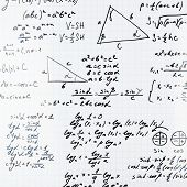 pic of formulas  - Squared sheet of paper filled with trigonometry math equations and formulas as a background composition - JPG
