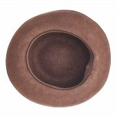 picture of panama hat  - Brown female hat isolated over the white background - JPG