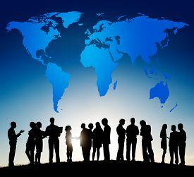 image of globalization  - World Global Cartography Globalization Earth International Concept - JPG