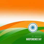 image of indian independence day  - Abstract background with the symbol of India - JPG