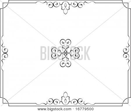 Calligraphic Border Frame Center Piece Designs Poster