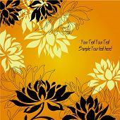 Постер, плакат: Искусство урожай цветочный фон
