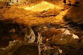 the undergroung cave interior