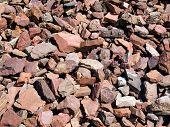 Red stones.