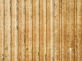 Corrugated metal sheet.
