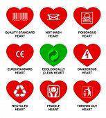 Corações de padrão de ícones.