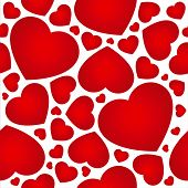 Heart seamless background - vector pattern for continuous replicate.