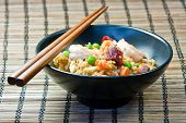 Fried rice in a bowl