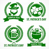 St. Patrick`s Day Symbols In Green poster