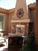 New Patio Fireplace
