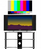 stock photo of high-def  - HDTV and real 16x9 video test pattern - JPG
