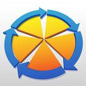 Abstrakt hintergrund textfreiraum für fünf Prozess Management Zyklus Anlagenkonzepte.