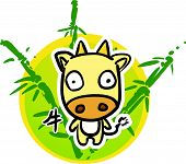 Cartoon Chinese Zodiac - Cow