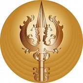Trishul (trident of God Shiv) trisula, Thai: trisun) is a type of traditional Indian trident, usuall