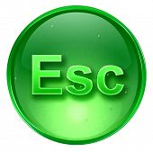 Esc Icon. With Clipping Path