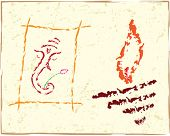 Ganesh, Diwali greeting abstract background