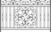 Wrought Iron Gate, Fence design