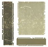 Aged negative films, saved with clipping path.