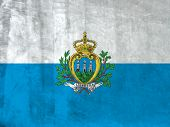 Grunge Flag of San Marino. Full collection European flags.