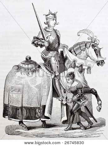 Louis IX of France horseback