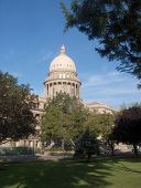 stock photo of boise  - Shot of the state capital building in Boise Idaho - JPG